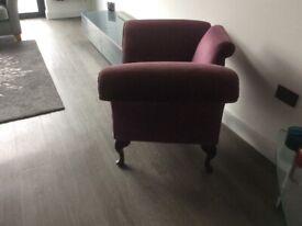Vintage purple bat wing chair