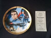 9x Thunderbirds collectible plates certified