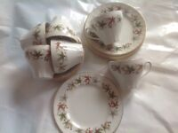 Vintage tea set - Leaf - x 6 trios - ONE DAY SALE
