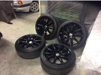 """Audi TT phase2 18"""" by 9""""speed line alloys and tyres"""