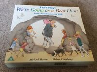Kids books and we're Going On A Bear Hunt book & Game