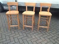 Bar stools x 3 man cave