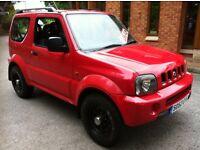 Suzuki Jimny 1.3 petrol 4x4 red 52 reg