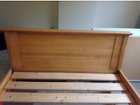 Cherry wood king size double bed. Originally from the House of Fraser. Selling due to house move.