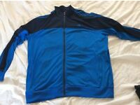Adidas climacool blue jacket size xxl with two polo tops great condition
