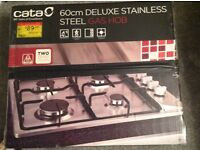 Unopened cata stainless steel 4 gas hob burner for sale