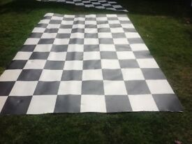 Black and White Square Chequer Board Cushion Floor £25 could deliver locally for fuel.