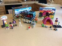 Playmobil x 2 sets 6 figures,vehicle £12.00