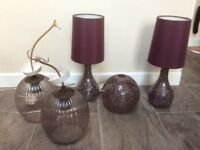 Bedside lamps and ceiling lamp shades