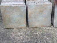 Greenish/Grey floor tiles. approximately 210 of them