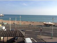 Large double room on seafront between both piers all bills included