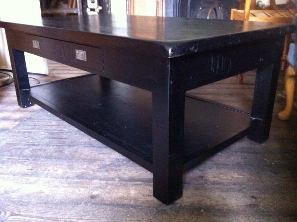 Solid Wood Large Designer Coffee Table from Pier with FREE Decorative Trays / Can Deliver