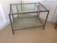 John Lewis glass topped Tv stand