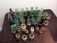 Joblot old bottles