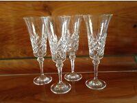 Beautiful Cut Glass Champagne Glasses - 4