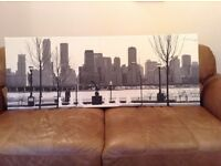 Black and White Canvas of New York