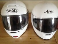 Two crash helmets plus jacket and trousers etc.