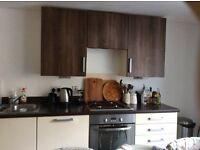 Fitted kitchen units + fridge