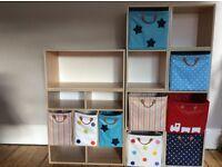 Children's wooden cube Beech storage shelving unit