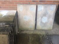 Used good condition paving slabs ( aged grey ) 24 pavers