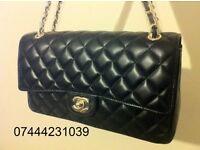 Ladies Bag Shopper Chanel Black Quilt Flap Handbag £125