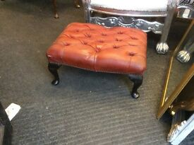 Vintafe Chesterfield footstool