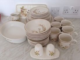 Vintage dinner and tea service and matching extras