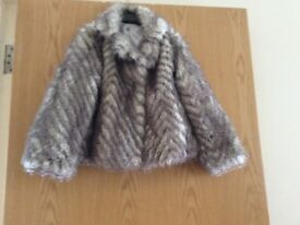 Marks and Spencer Girls Faux Fur Coat