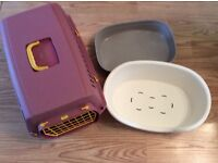 Cat Box, Litter Tray and Brand New Cat Bed for sale