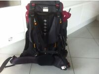Used once 60L Trekking Backpack £40 (Quecha Brand)