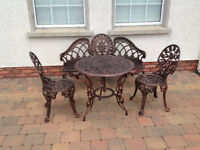 ** Tables and chairs** Aluminium furniture sets, patio, garden