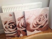 Next set of 3 flower canvas