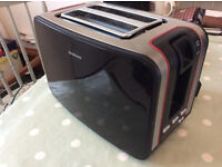 Black And Silver Digital Toaster