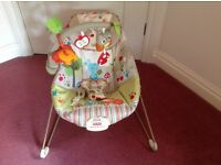 Fisher price vibrate chair and music and activity can deliver if you live local used once £25