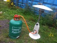 Gas Patio Heater only used once nearly new with gas bottle can deliver