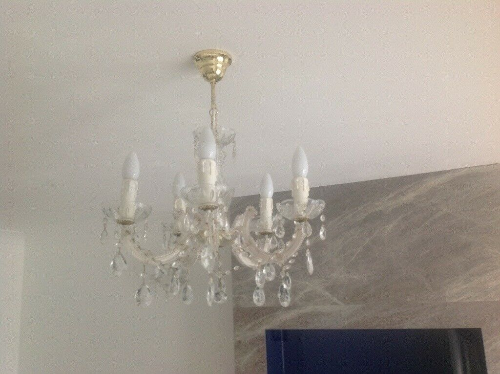 Ceiling light, chandelier and matching wall lights | in ...