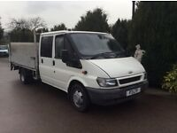 Ford transit 350 crewcab lwb dropside truck with tailift 109.000 miles