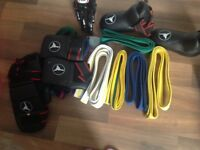 Tae Kwon Do belts and new unused sparring KIT