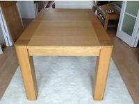 Oak dining table (Extendable) £125.00