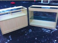 Pair of retail shop counter display units....re advertised due to timewasters