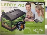 Aquarium complete set with filter, heater, lighting cover and accessories (25 litre)