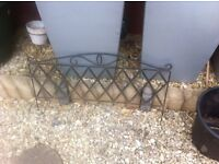 Garden Edging - ornate metal.