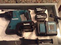 Makita 36 volt hammer drill 2 new 4 amp batterys