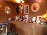 Eight crystal inlaid mirrors for energy healing work and past lives work and clearance work