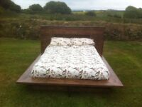 hand made double bed
