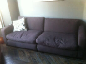 Brown sofa 2 Seat Great Condition