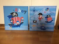 Pirate canvas pictures x 2