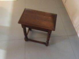 Dark wood rectangular side table