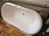 Roll top bath with taps stand alone. Unfitted 1800