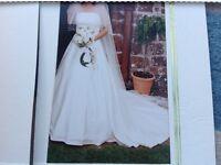 Bespoke Wedding Dress with Tiara and Veil